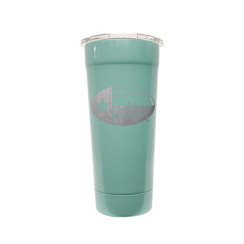 Frio Stainless 24oz Seafoam w/ Salty Texan Laser Etched
