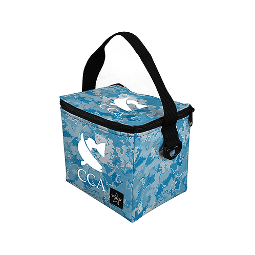 CCA 6 Can Lunch Bag - Water Camo