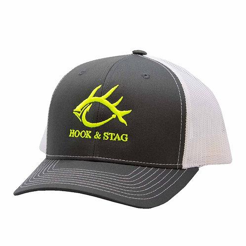 YKnot Cap, MidPro Shape, Safety Yellow Hat, Cap, Fishing, Fishing Cap, Hunting Cap
