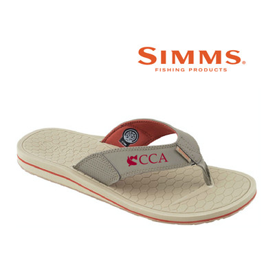 43e6386f25a The Downshore flip-flop sandal features the Join CCA logo and was designed  for tired feet at the close of a rewarding day on the water.