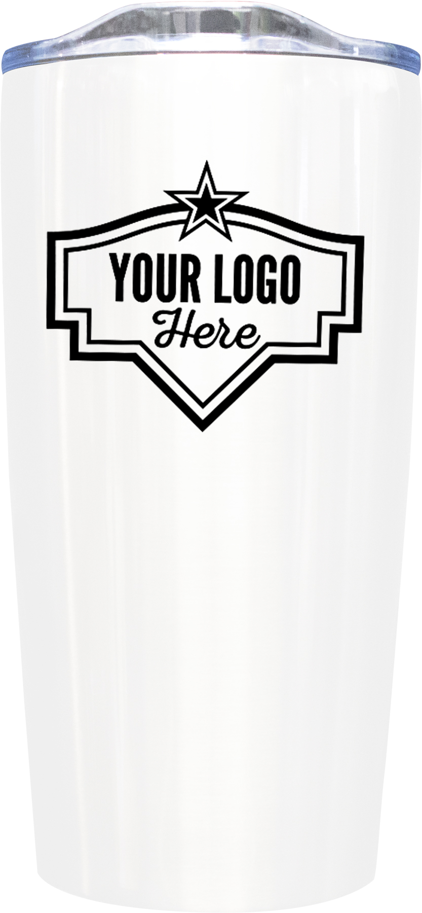 20oz Tumbler Screen Print - White