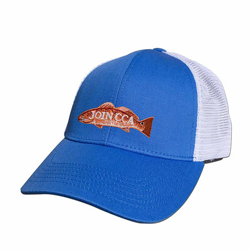 CCA GameGuard Mesh Back Cap - Pacific Blue w/ Embroidered Redfish Join CCA Logo