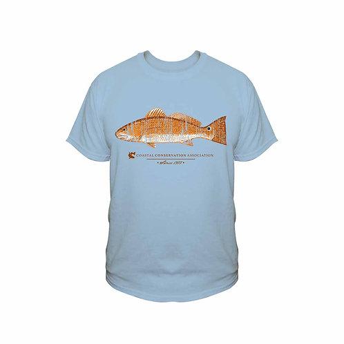 cca, cca texas, redfish tee, fishing tee, cca tee, distressed tee, t-shirt, cca t-shirt,