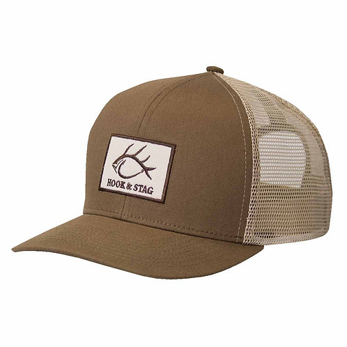 Big Easy, Performance Cap, Fishing, Hunting, Brown cap, hook and stag, Hook & Stag, H&S