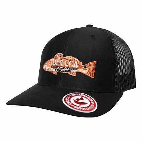Black/ Black Mesh Richardson Cap w/ CCA Logo Patches