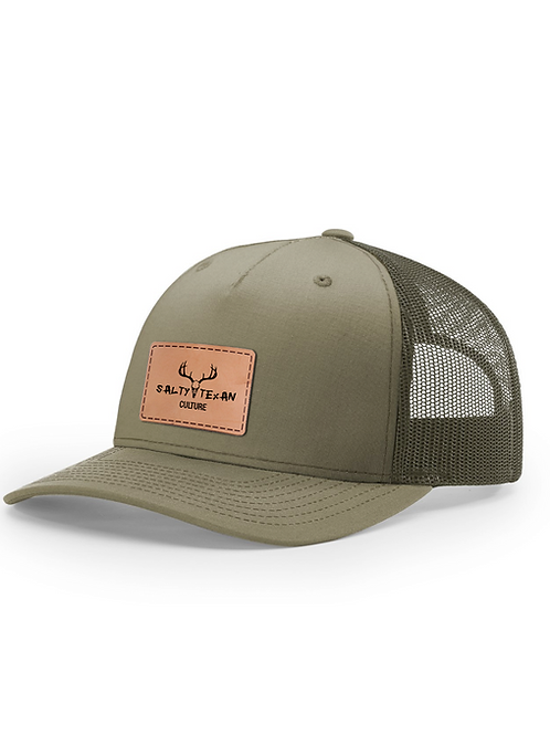 Richardson 112 Cap w/ Leather Salty Texan Culture Badge