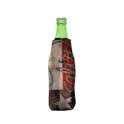 Texas Wood Edition Bottle Zipper Beverage Hugger