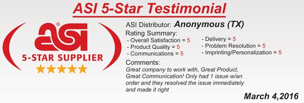 ASI 5-Star Rating!