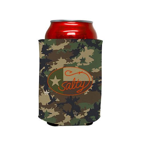 Salty Texan Frio Camo Neoprene Beverage Hugger