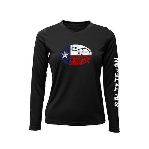 Ladies Salty Texan Long Sleeve Solar Shirt
