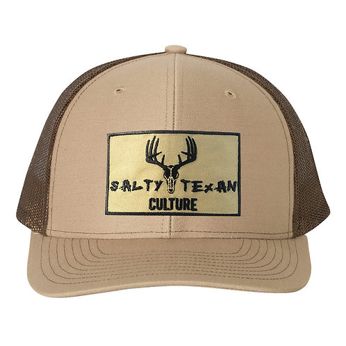 Richardson 112 Cap w/ Salty Texan Culture Badge - Khaki/Coffee