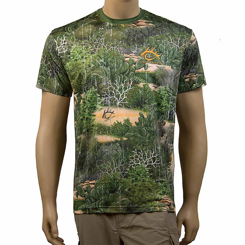 Camo, Camouflage, Texas Camo, Cactus, South Texas, Texas, Texas camo, Hook and Stag, Hook & Stag, Short Sleeve