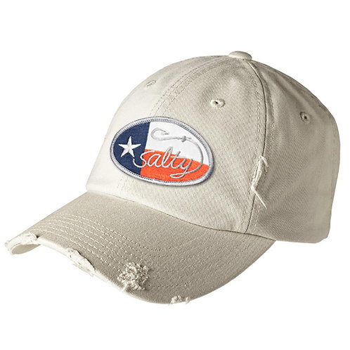 District Distressed Cap w/ Salty Texan Oval Badge