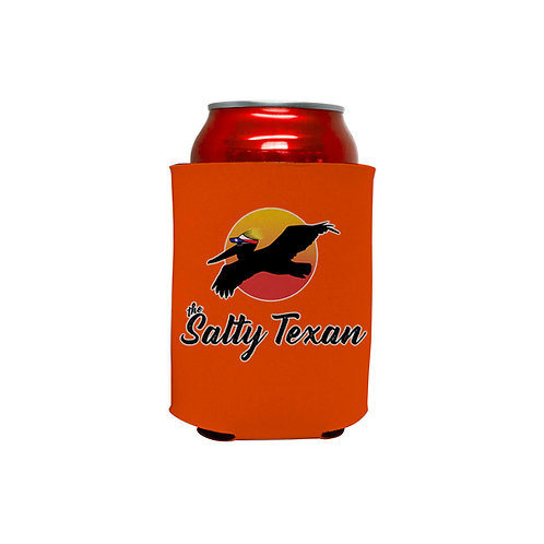 koozie, salty texan koozie, texas koozie, beverge hugger, can holder