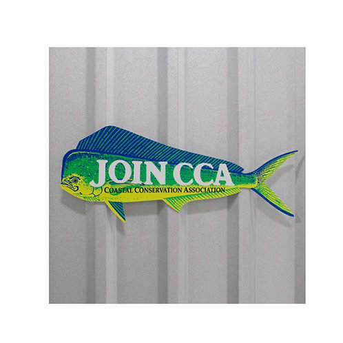 cca, cca texas, dorado, dorado aluminum sign, cca sign, texas sign, fishing, join cca