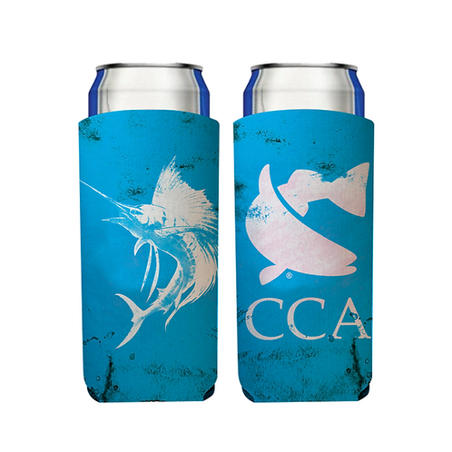 CCA Slim Can Beverage Hugger - Sailfish