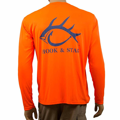 Little Nauti Fising Shirt Back, Hook and Stag, Hook & Stag, Back, Fishing Shirt, Long Sleeve 50+ UPF