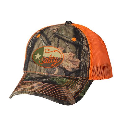 salty texan cap, camo hat, mossy oak, the salty texan