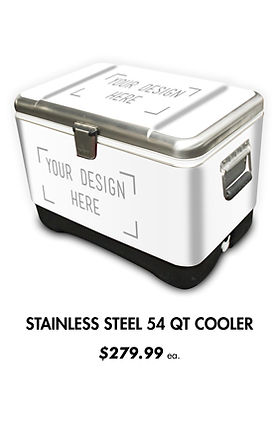 Custom Stainless Steel Igloo Coolers