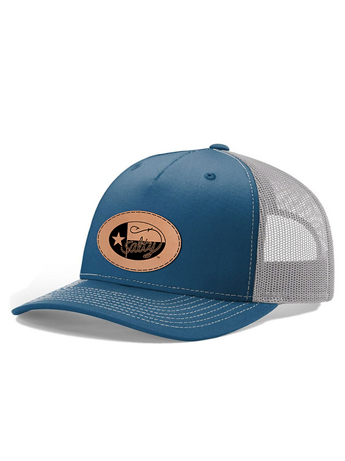 Richardson 112 Cap w/ Leather Salty Texan Badge