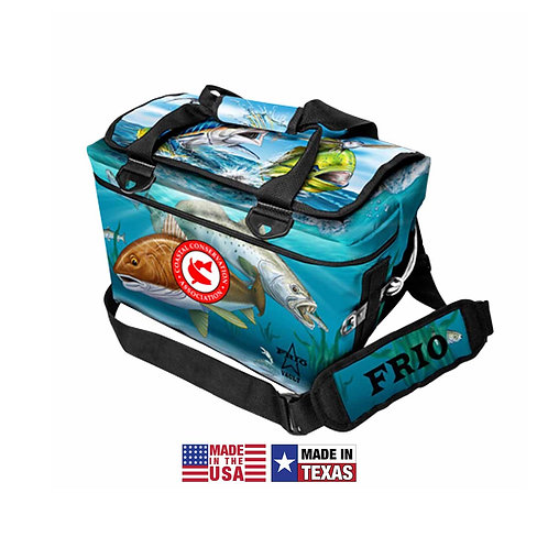 frio coolers, saltwater, cca, cca texas, softside cooler, made in usa, frio, fishing, beverage cooler