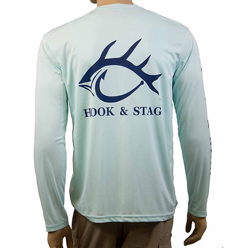 In The Money, Long Sleeve Performance Shirt, 50+ UPF, Seagrass, Hook & Stag, Hook and Stag