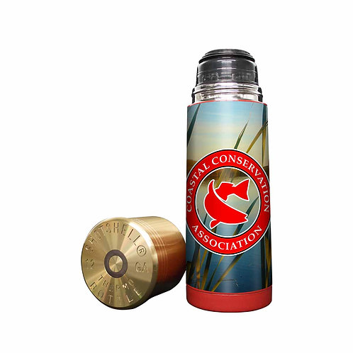 shotshell, thermos, cca, cca texas, fishing, hunting, camping, texas, vinyl wrap