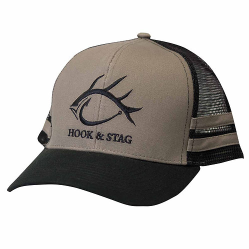 All Around, Black, Grey, Hat, Fishing Hat, Hook & Stag, Hook and Stag, Fishing, Hunting, Cap, hat