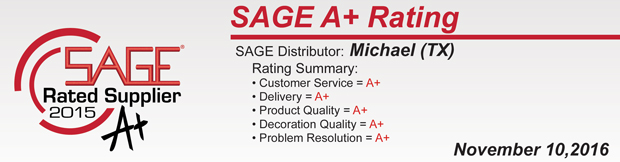 Sage A+ Rating!