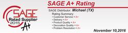 Sage A+ Rating!