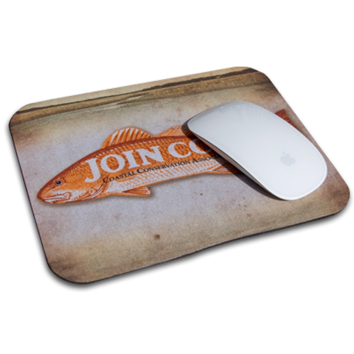 cca, cca texas, join cca, cca mouse pad, redfish mouse pad, fishing mouse pad, mouse pad, cca pad, sublimated mouse pad