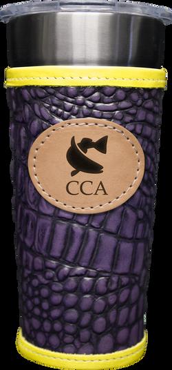 24-7 Cup w/ Leather Wrap & CCA Logo