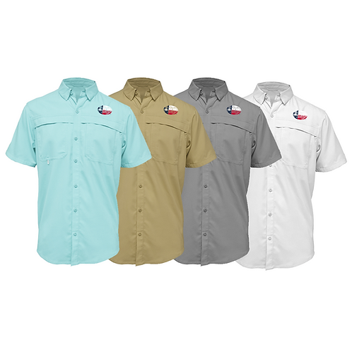 Frio Short Sleeve Performance Fishing Shirt w/ Salty Texan Logo