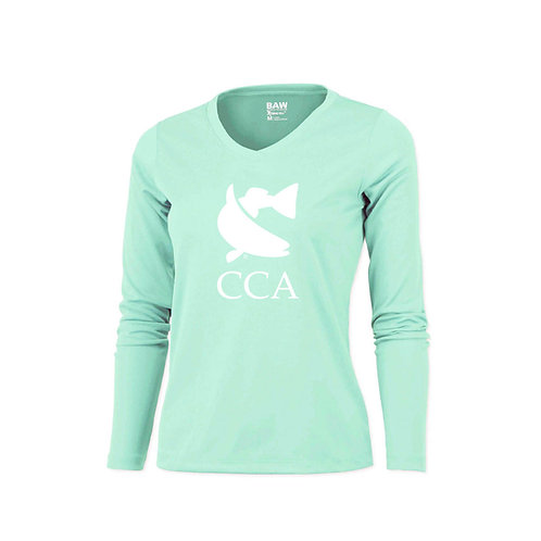 Ladies Long Sleeve w/ Twisted CCA Fish