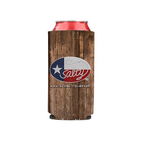 Salty Texan Slim Beverage Hugger - Texas Wood