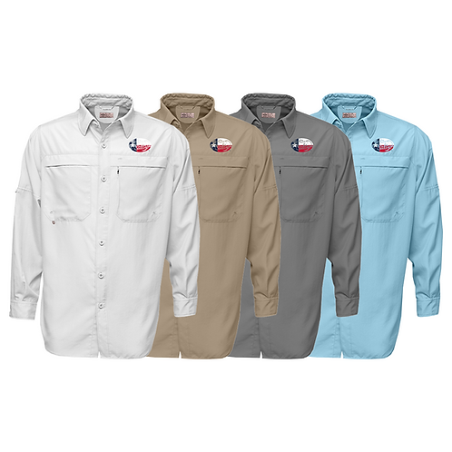 Frio Long Sleeve Performance Fishing Shirt w/ Salty Texan Logo