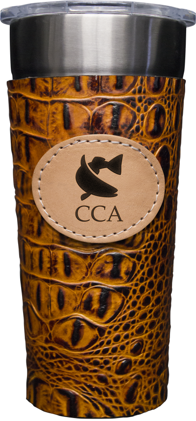 24-7 Cup w/ CCA Cognac Leather Wrap