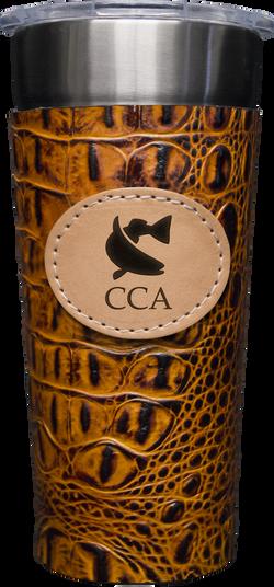24-7 Cup w/ CCA Cognac Leather Wrap