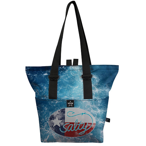 The Salty Texan Saltwater Pull Top 14 Tote
