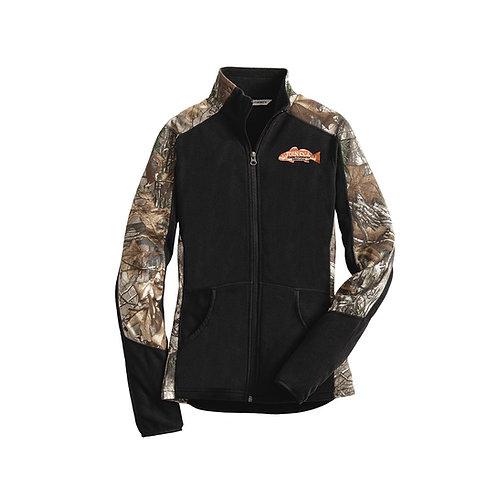 Ladies Camouflage Microfleece Full-Zip Jacket w/ Join CCA Badge