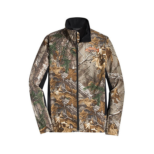 Camouflage Colorblock Soft Shell Jacket w/ Join CCA Badge
