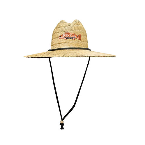 cca straw hat, join cca, redfish, fishing hat