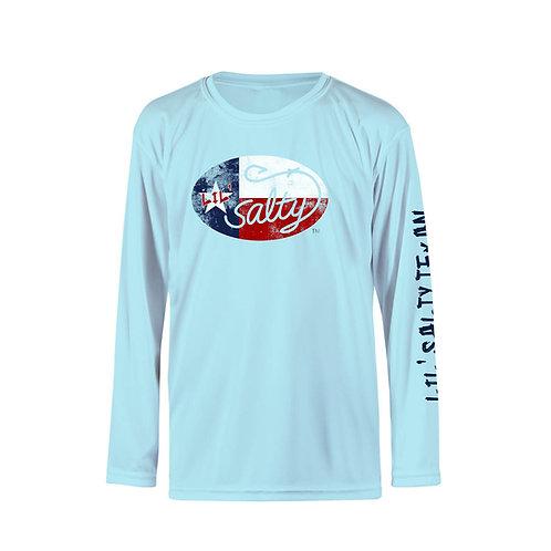 salty texan shirt, youth solar shirt, long sleeve texan shirt, salty texan solar