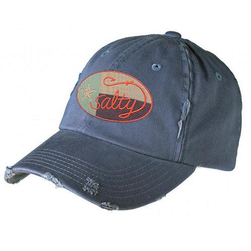 District Distressed Cap w/ Camo Salty Texan Oval Badge
