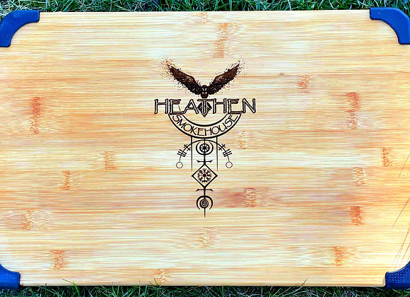 Custom Heathen Smokehouse Cutting Board