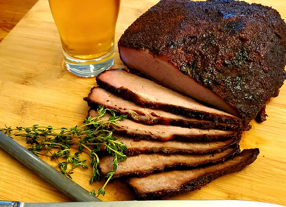 Beer and Mesquite Smoked Beef Brisket