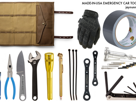 one guy's made-in-the-USA emergency car toolkit