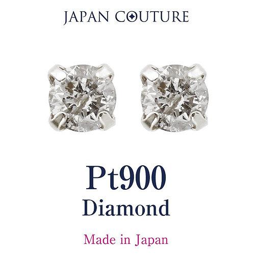 Dress in charm 4月誕生石 ダイヤモンド 3mm Pt900 スタッドピアス