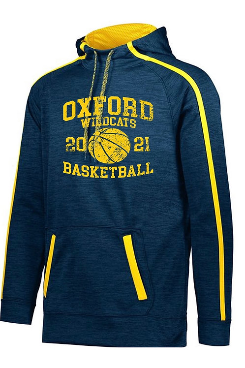 Augusta Blue and Gold Basketball Performance Hoodie