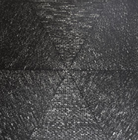 Hazlitt 2017  oil on canvas  122 x122 cm